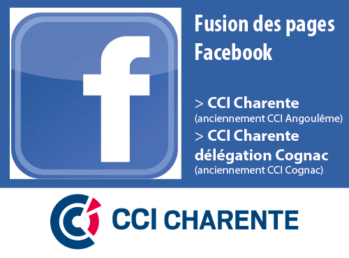 Fusion pages Facebook CCI Charente